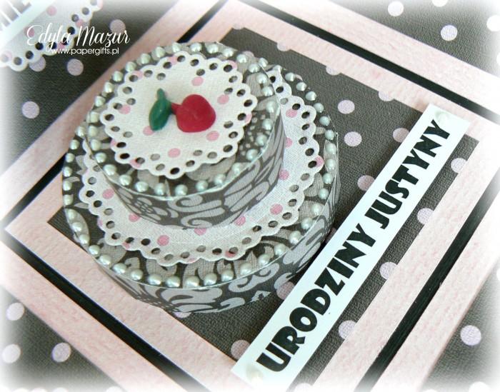 Babski wieczór - box na urodziny Justyny tort