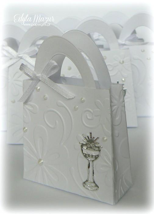 Kwiatowo-srebrne Podziękowanie - Komunia Święta Leny