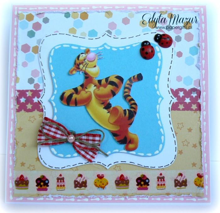 Urodziny z Tygryskiem - kartka urodzinowa