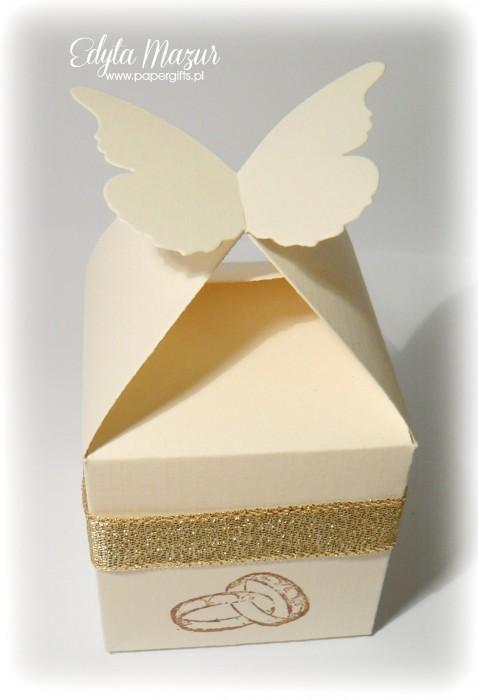 Beżowe motylki - podziękowanie