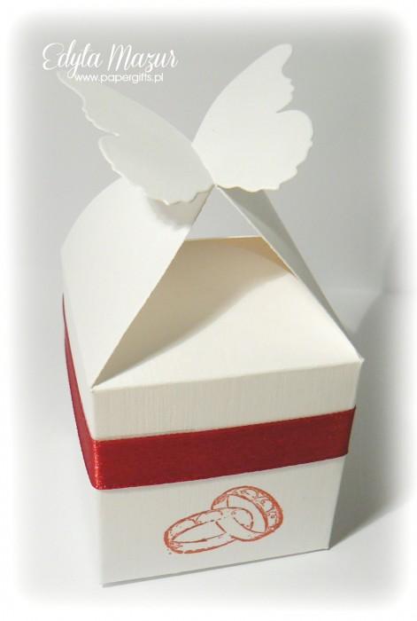 Białe motylki - podziękowanie
