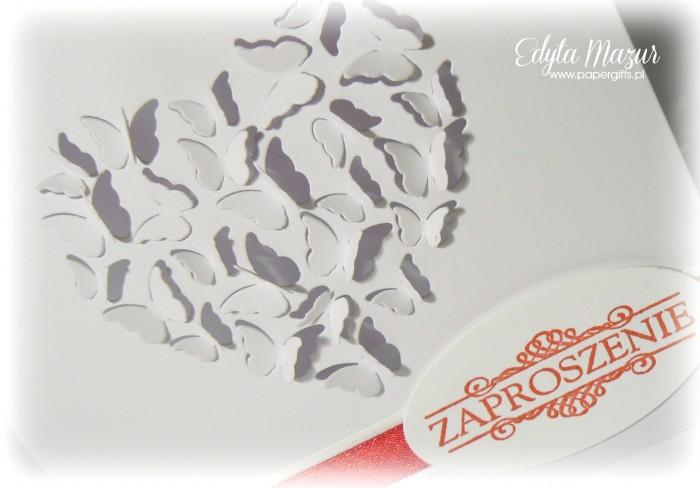Białe motylki - zaproszenie1
