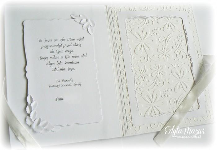 Kwiatowy mini album komunijny1