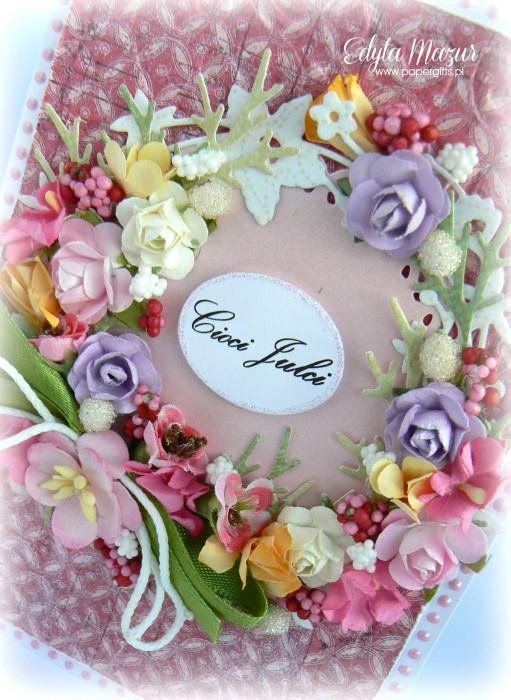 Wianek z polnych kwiatów - Kartka z okazji imienin cioci Julci1