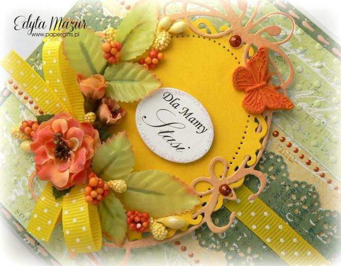 Zielono-herbaciana - kartka z okazji Dnia Mamy1