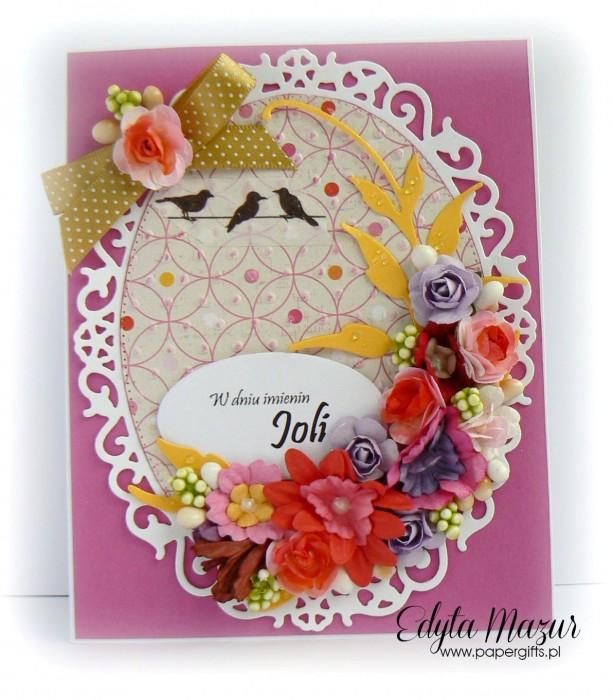 Fuksja z polnymi kwiatami - kartka okolicznościowa