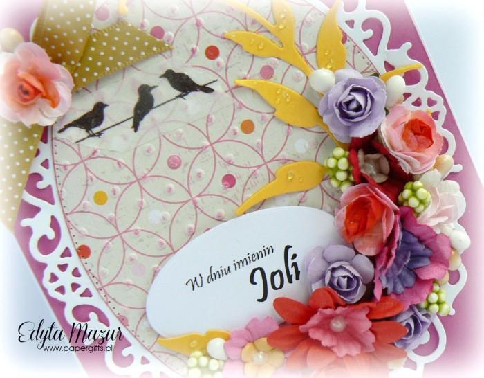 Fuksja z polnymi kwiatami - kartka okolicznościowa1