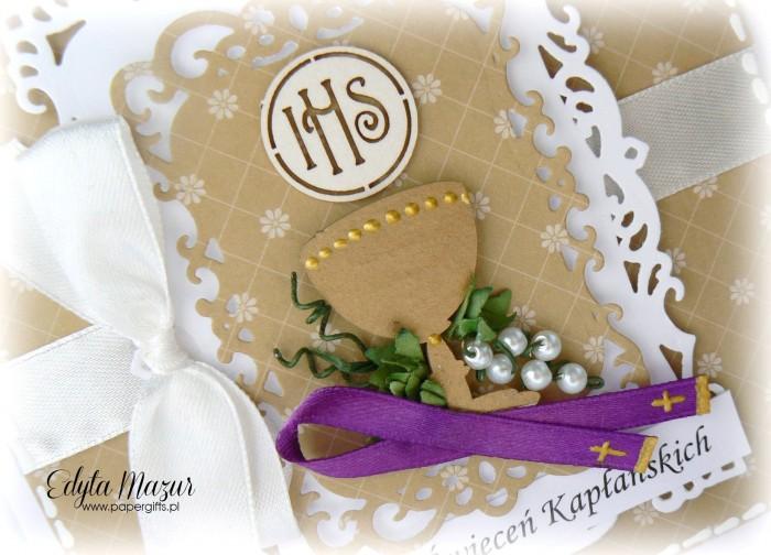 Miodowa z kielichem - karka na rocznicę święceń kapłańskich1