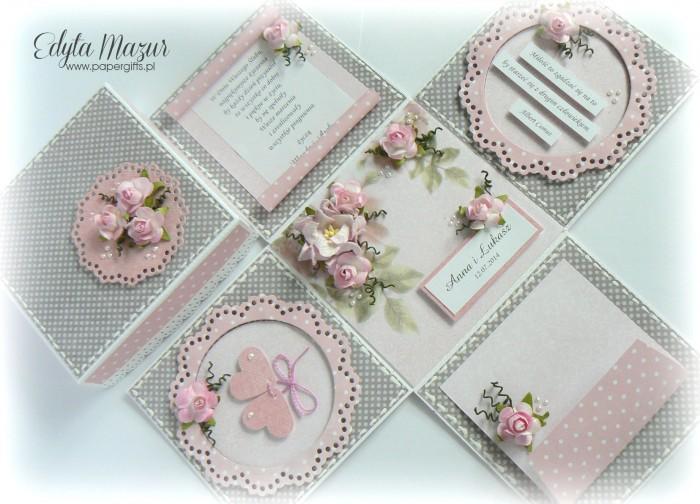 Różane gałązki - box ślubny dla Anny i Łukasza1