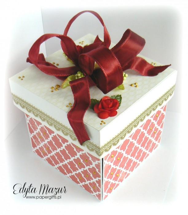Bordowo-złoty box ślubny dla Ewy i Marcina