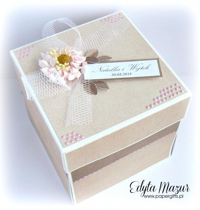 Box ślubny - Magiczne chwile z różami dla Natalii i Wojtka