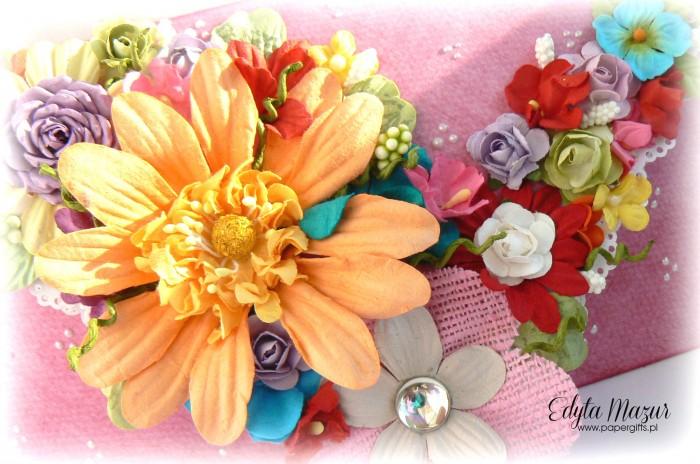 Kolorowy bukiet - kopertówka na urodziny babci1