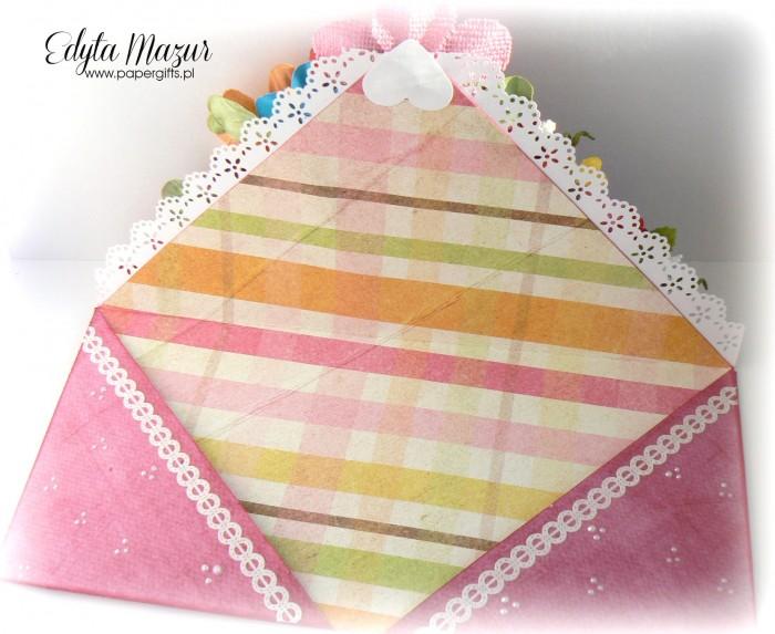 Kolorowy bukiet - kopertówka na urodziny babci2