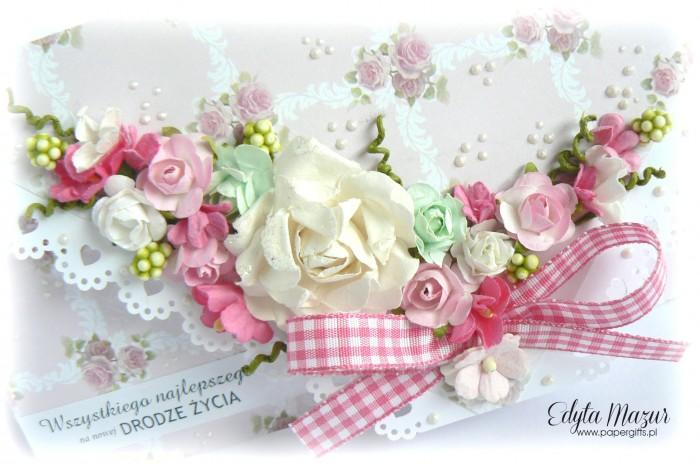Kopertówka ślubna w róże1