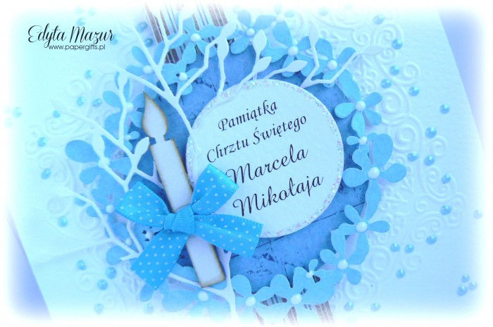 Niebieski wianek - Pamiątka Chrztu Św. Marcela1