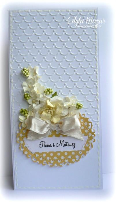 Żółta kartka ślubna