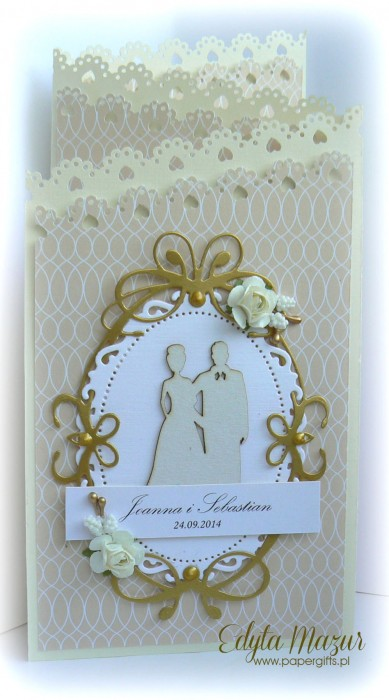 Kremowo-złota katka ślubna dla Joanny i Sebastiana