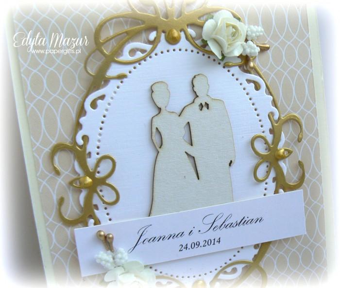 Kremowo-złota katka ślubna dla Joanny i Sebastiana1