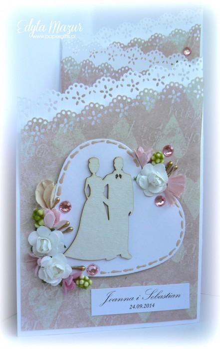 Różowo-złota katka ślubna dla Joanny i Sebastiana