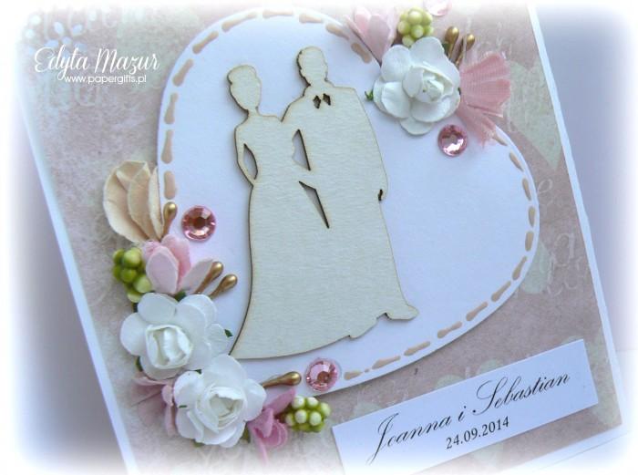 Różowo-złota katka ślubna dla Joanny i Sebastiana1