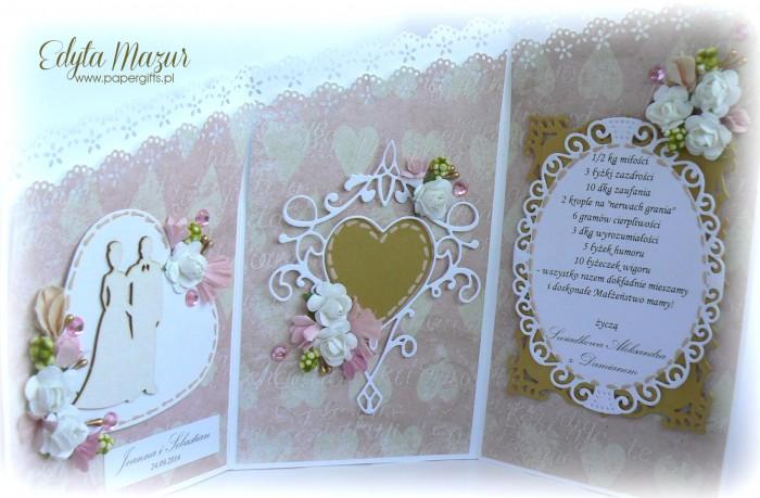 Różowo-złota katka ślubna dla Joanny i Sebastiana2