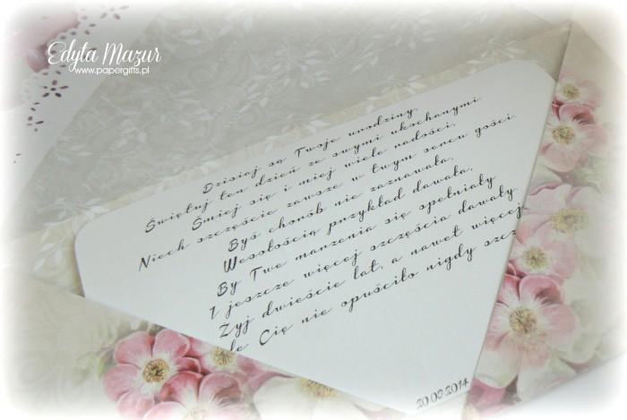 Szaro-różowo-fioletowa - kartka kopertowa dla Anny2
