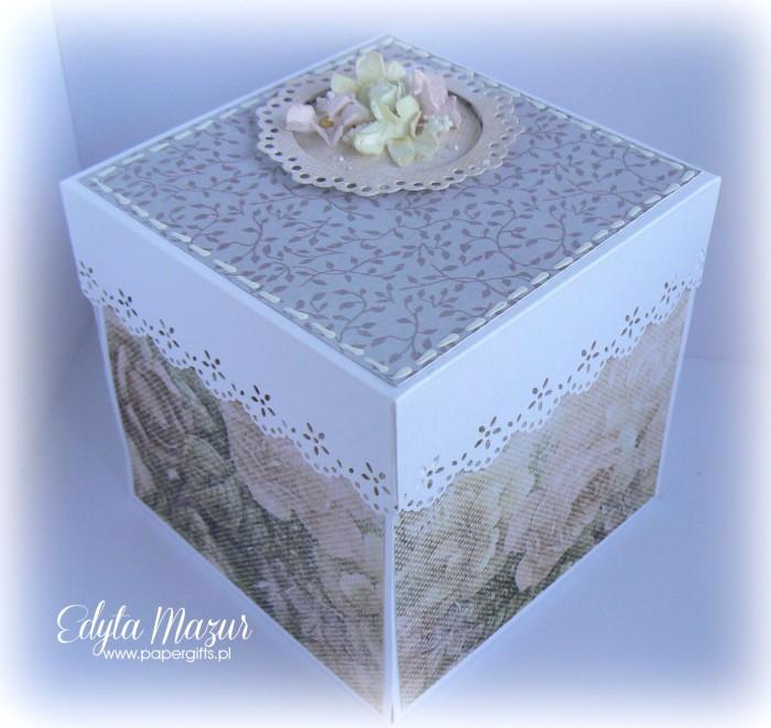 Różowo-szary box ślubny dla Ani i Marcina
