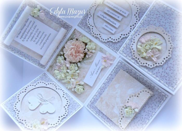 Różowo-szary box ślubny dla Ani i Marcina1