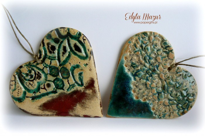 Morskie serca z ceramiki