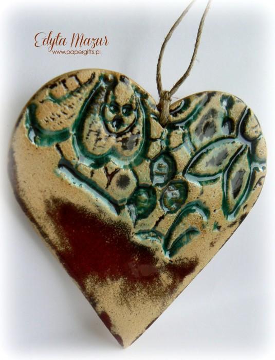 Morskie serce z ceramiki