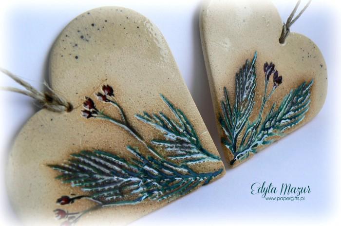 Polne kwiaty - serca z ceramiki1