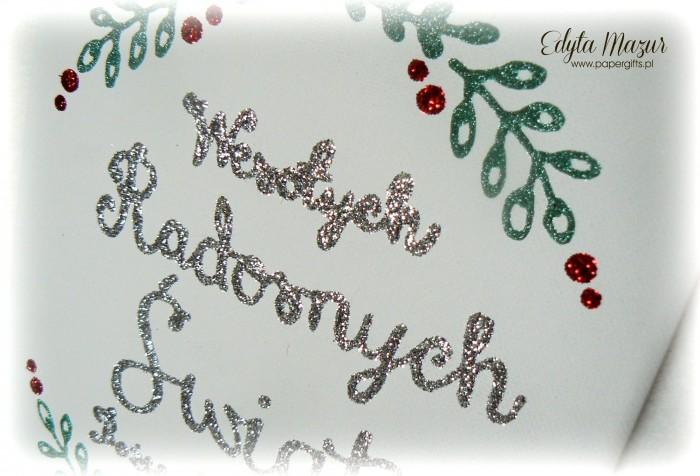 Brokatowy obraz - świąteczny napis1