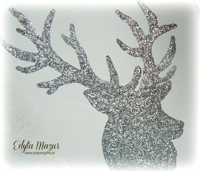 Brokatowy obraz - głowa jelenia1