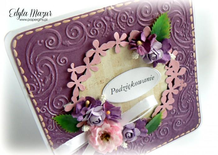 Fioletowa z wiankiem i fioletowymi kwiatami - Podziękowanie3