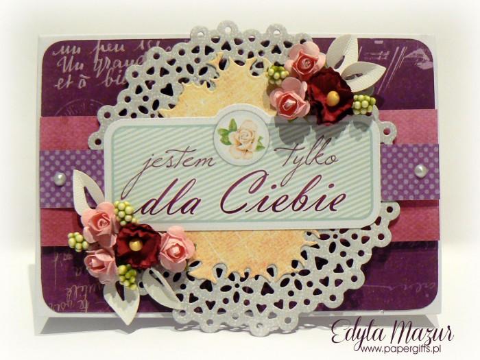 Fioletowo-różowa