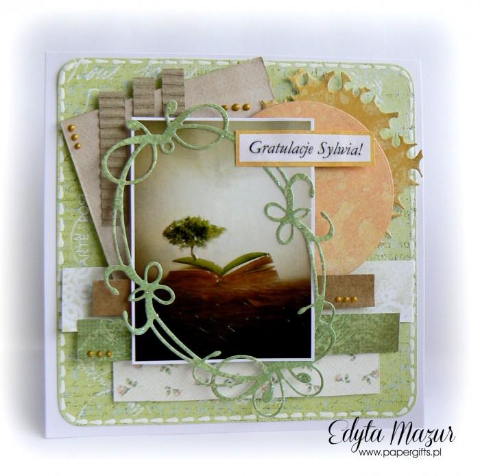 Książka i drzewo - gratulacje