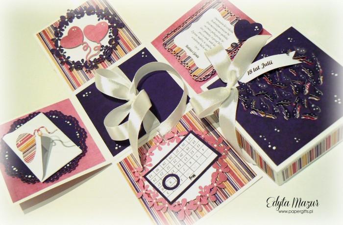 Fioletowo-różowy box na 18 Julii1