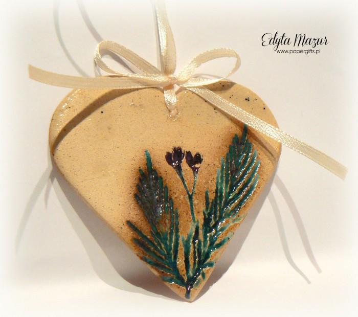 Polne kwiaty - serce z dedykacją ceramika2
