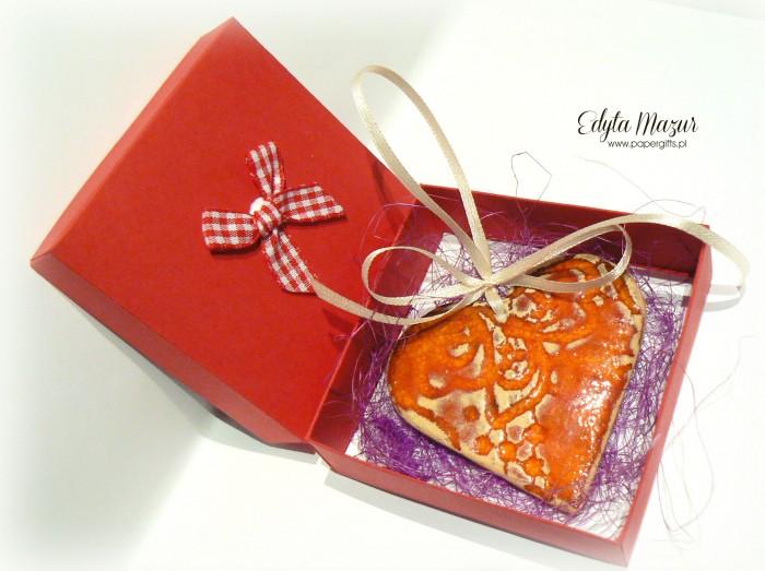 Pomarańczowe serce z dedykacją - ceramika2