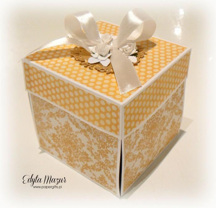 Żółto-złoty box ślubny dla Doroty i Arka