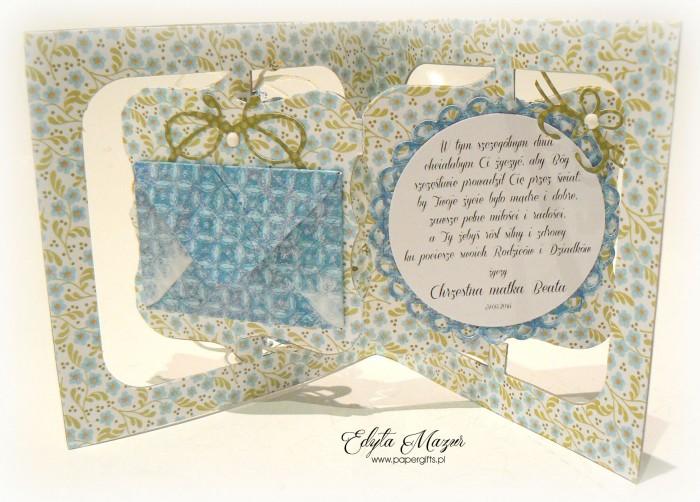 Biało-niebieska z kwiatuszkami - Pamiątka Chrztu Świętego Maksia1