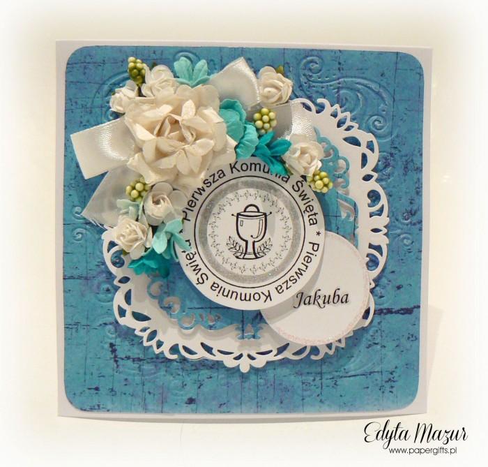 Niebiesko-biała - Pamiątka Komunii Św Jakuba