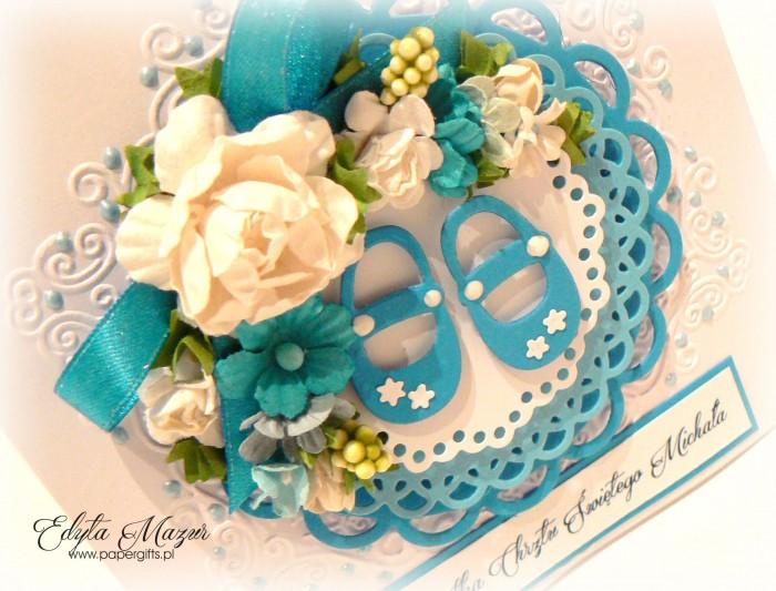 Niebieski buciki - Pamiątka Chrztu Michała1