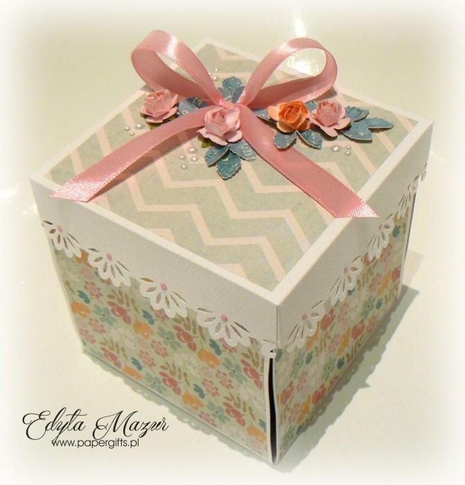 Pistacjowo-różowy box ślubny1