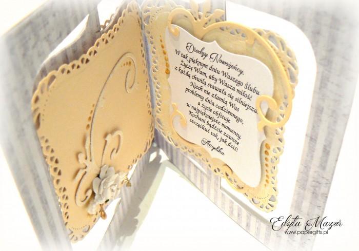 Szaro-żółta kartka na ślub dla Sylwii i Piotra2