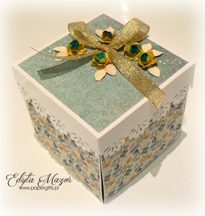 Turkusowo-złoty box ślubny Liliana i Jan