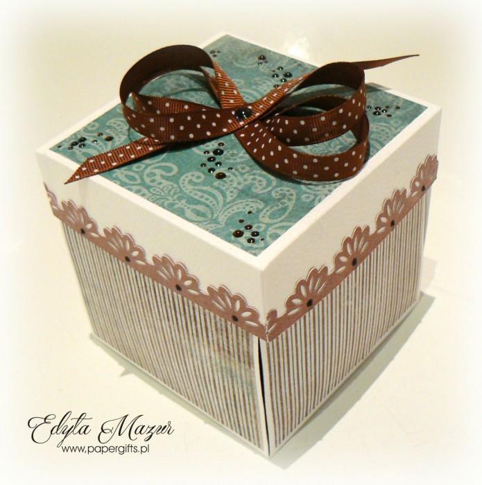 Brązowo-turkusowy box na 70 urodziny Mariana