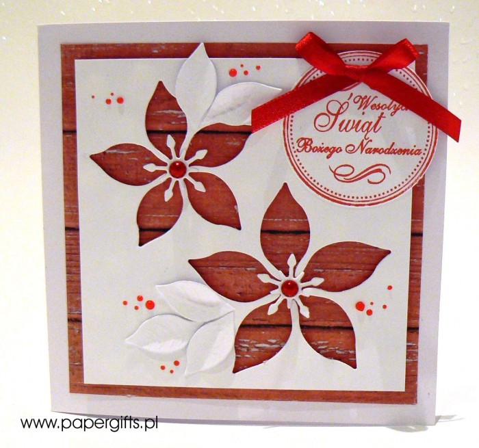 Gwiazdy betlejemskie - kartka bożonarodzeniowa, wersja 3