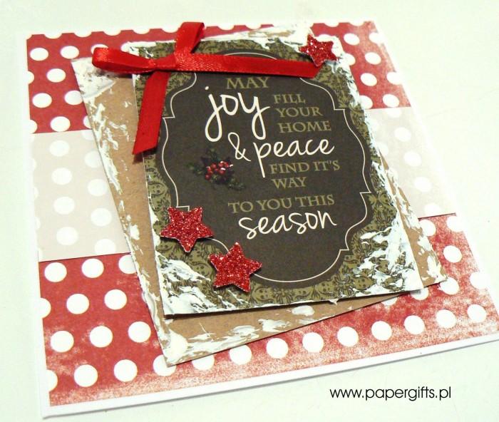 Kartka bożonarodzeniowa - wzór 1a