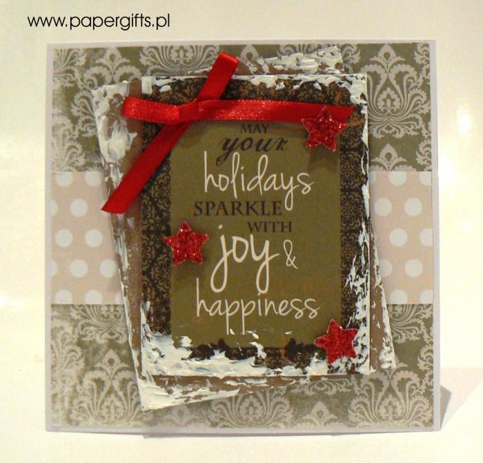 Kartka bożonarodzeniowa - wzór 9